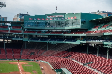 Fenway Park, empty, on a tour of Fenway, taken from the top of Green Monster