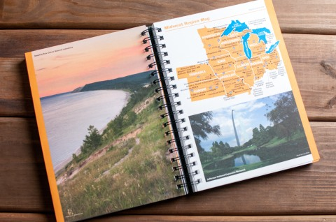 The National Park Passport Program helps you find your parkway highlighting national parks you've never seen before.  This is the Map page of the Passport Book that lets you see what parks are close to other parks you'll be visiting.  This is a spread of the midwest parks on the map, but each region gets their own.   Greetingsfromkelly. Greetings From Kelly. Kelly Blick