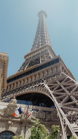 The Eiffel Tower at the Paris Hotel and Casino in Las Vegas