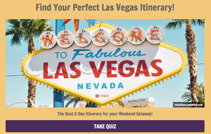 Quiz to find your perfect Las Vegas weekend Itinerary.