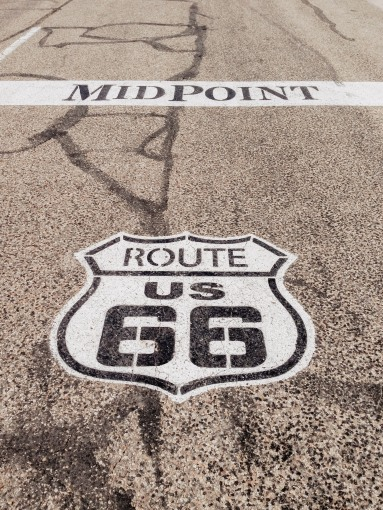 The Midpoint of Route 66 in Adrian Texas