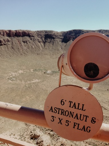 The Telescope at the top of the meteor crater in Winslow Arizona on Route 66