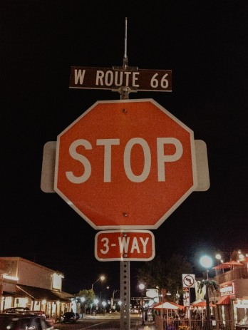 Route 66 Stop Sign in Williams Arizona