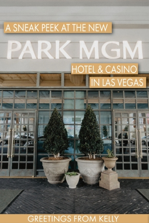 Pinterest Pin - Sneak peek at the new Park MGM hotel and Casino - the best hotel in Las Vegas